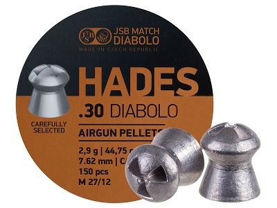 JSB Match Diabolo Hades, .30 Cal, 44.75gr, Hollowpoint, 150 ct