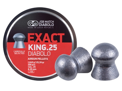JSB Exact King .25 Cal, 25.4 Gr, Domed, 350 ct